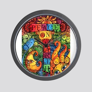 Peace on Earth Sun and Moon Wall Clock