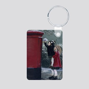 Christmas Special Delivery Aluminum Photo Keychain