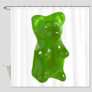 Green Gummy Bear Shower Curtain