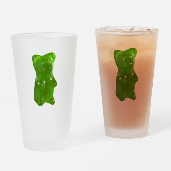 Green Gummy Bear Drinking Glass