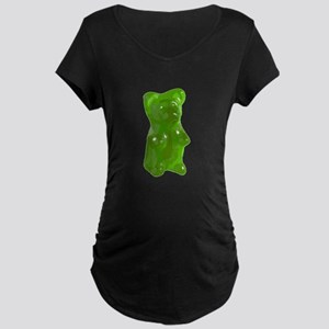 Green Gummy Bear Maternity T-Shirt