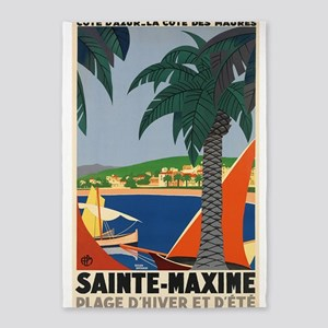 Sainte-Maxime, France, Travel, Vintage Poster 5'X7