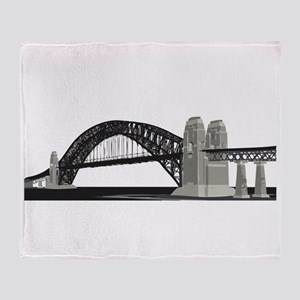 Suspension Bridge Throw Blanket
