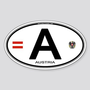 Austria Euro Oval Oval Sticker