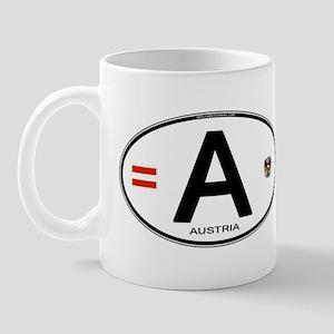 Austria Euro Oval Mug