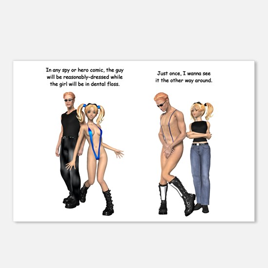 Double Standard Postcards (Package of 8)