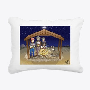 FSM Nativity Rectangular Canvas Pillow