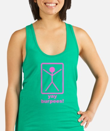 Yay Burpees! Racerback Tank Top