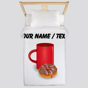 Custom Coffee And Donut Twin Duvet
