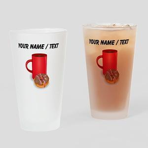 Custom Coffee And Donut Drinking Glass