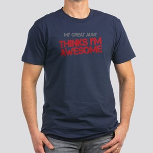 Great Aunt Awesome Men's Fitted T-Shirt (dark)