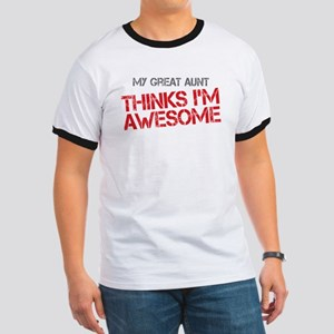 Great Aunt Awesome Ringer T