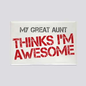 Great Aunt Awesome Rectangle Magnet