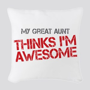 Great Aunt Awesome Woven Throw Pillow