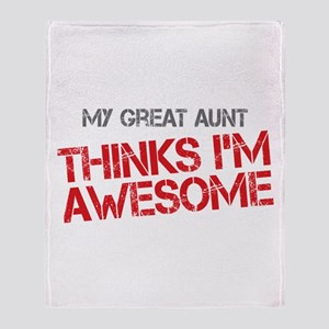 Great Aunt Awesome Throw Blanket