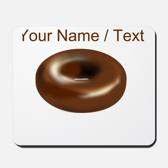 Custom Chocolate Donut Mousepad
