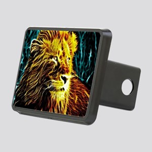 Glow Lion (Blue) Rectangular Hitch Cover