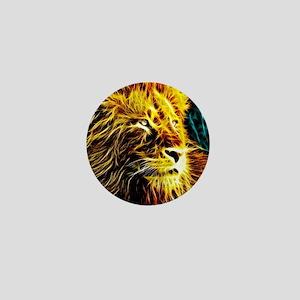 Glow Lion (Blue) Mini Button