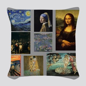 Art Gallery Woven Throw Pillow