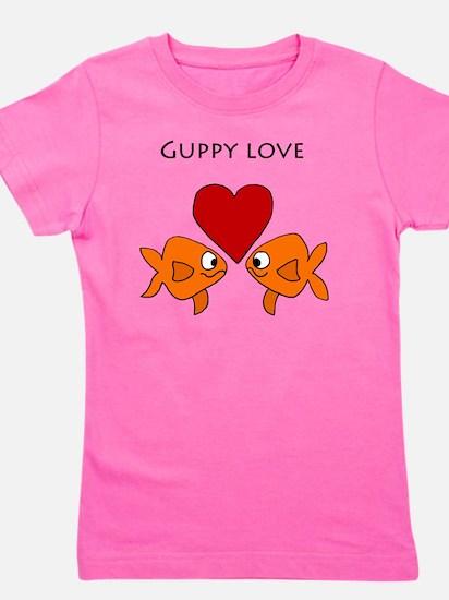 Funny Guppy Love Cartoon Girl's Tee