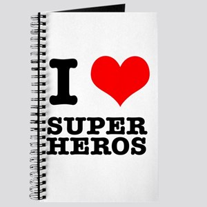 I Heart (Love) Super Heros Journal
