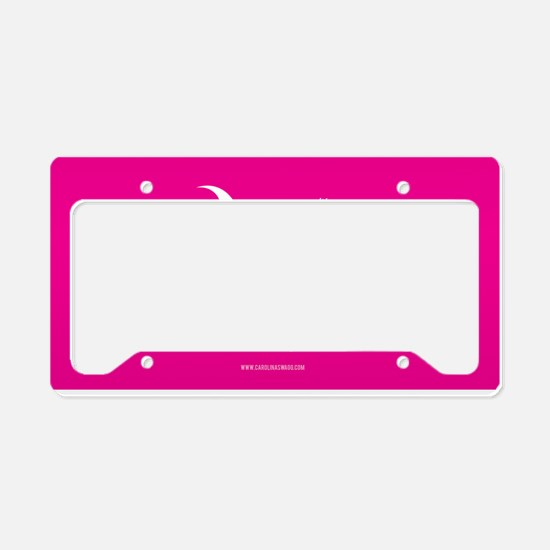 SC Palmetto Moon State Flag Pink License Plate Hol