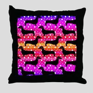 Rainbow Dachshunds Throw Pillow