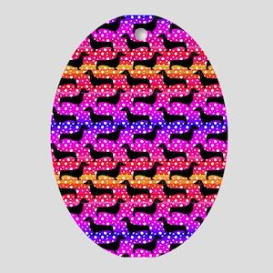 Rainbow Dachshunds Ornament (Oval)