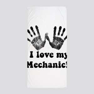 mechanic love Beach Towel