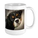 Cavalier king charles spaniel Large Mugs (15 oz)