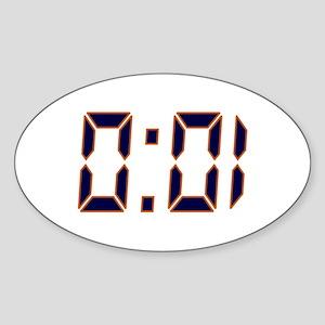 Auburn 1 Second Sticker (Oval)