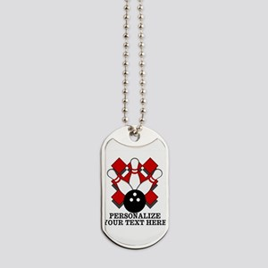 Bowling Personalized Lite Dog Tags