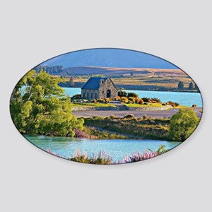 New Zealand, Lake Takepo Sticker (Oval)
