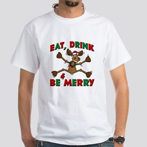 Merry Christmoose Party White T-Shirt