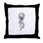 Dark Demonic Spawn Throw Pillow