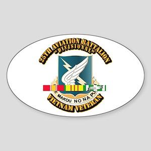 DUI - 25th Aviation Battalion w SVC Ribbon Sticker