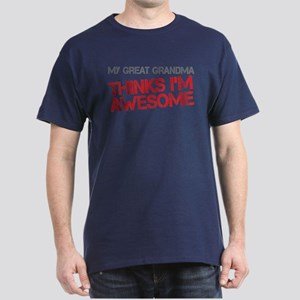 Great Grandma Awesome Dark T-Shirt