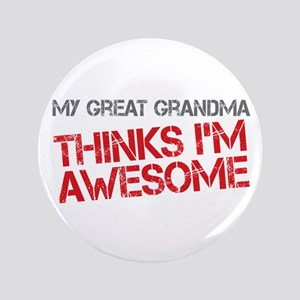 "Great Grandma Awesome 3.5"" Button"