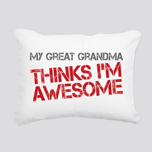 Great Grandma Awesome Rectangular Canvas Pillow