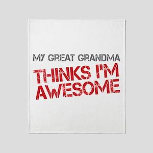 Great Grandma Awesome Throw Blanket