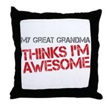 Great Grandma Awesome Throw Pillow