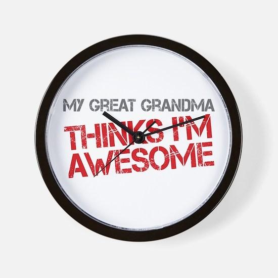 Great Grandma Awesome Wall Clock