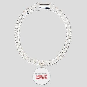 Great Grandma Awesome Charm Bracelet, One Charm
