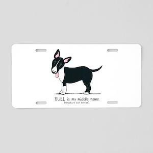 Bull Terrier Name Aluminum License Plate