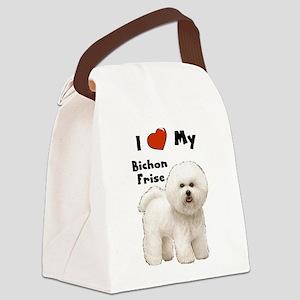 Bichon Frise I Love My Canvas Lunch Bag