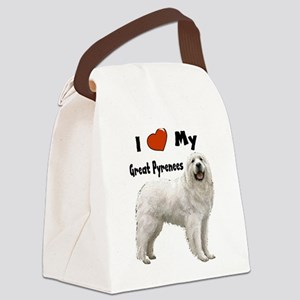 Great Pyrenees I Love My Canvas Lunch Bag