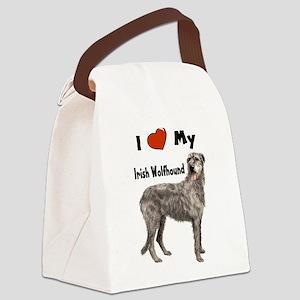 I Love My Irish Wolfhound Canvas Lunch Bag