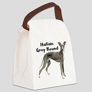 Italian Grey hound Canvas Lunch Bag