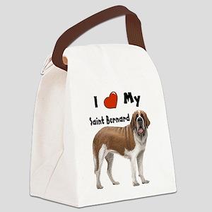 I Love My Saint Bernard Canvas Lunch Bag