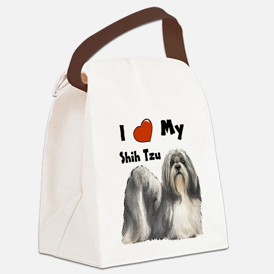 Shih Tzu I Love My.JPG Canvas Lunch Bag